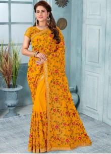 Resham Reception Classic Designer Saree