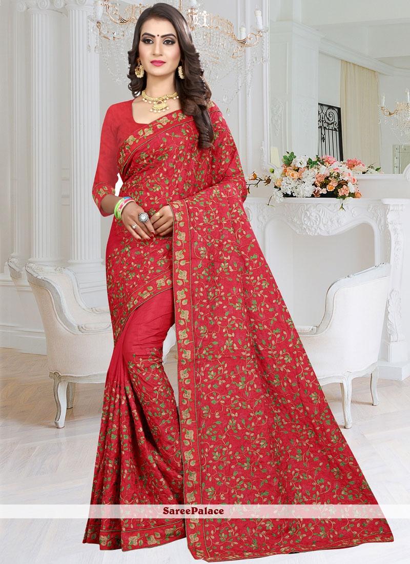 Resham Rose Pink Saree