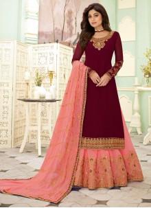 Resham Shamita Shetty Designer Salwar Suit