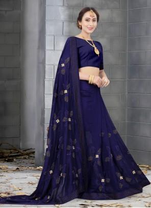 Resham Traditional Navy Blue Designer Saree