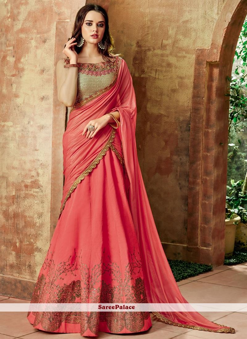Red Resham Wedding Lehenga Choli