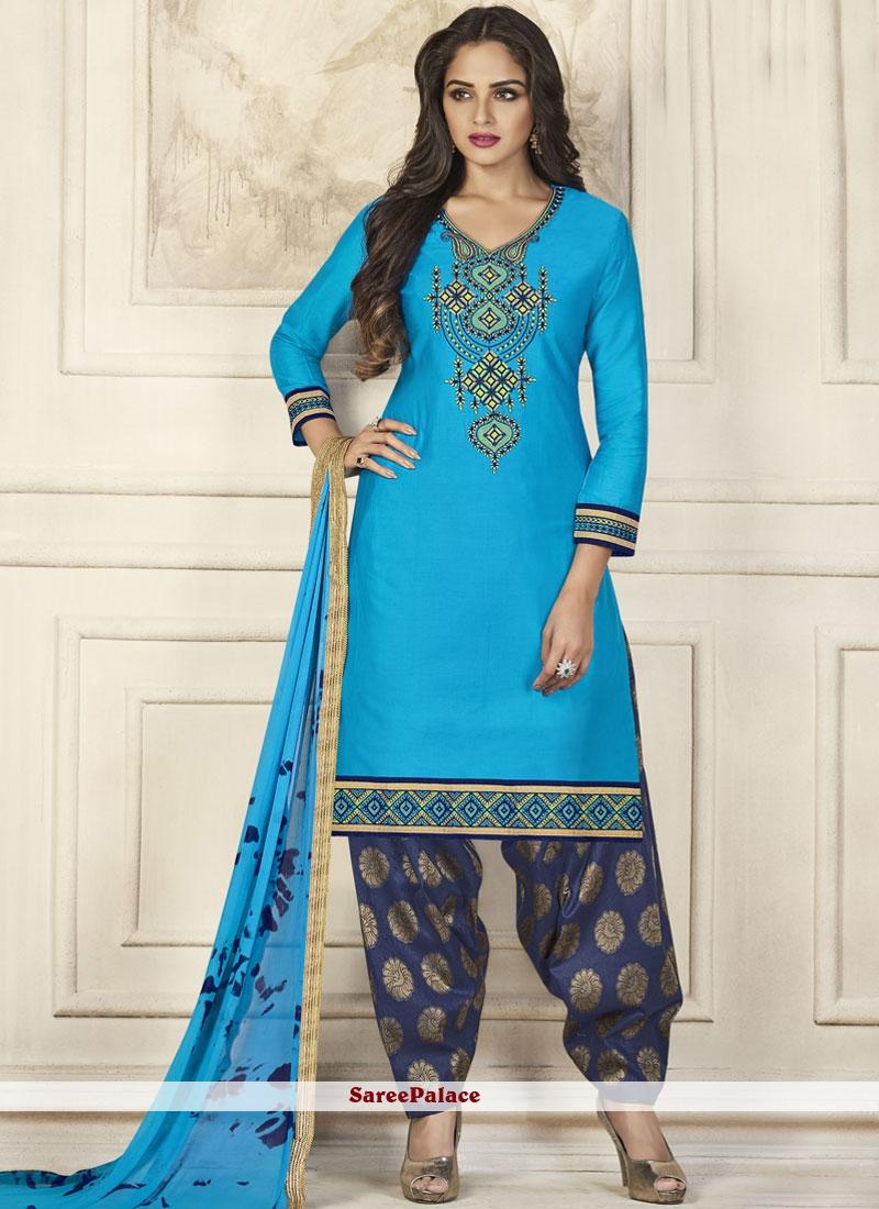 Resham Work Designer Patiala Suit