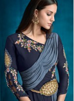 Resham Work Readymade Anarkali Suit