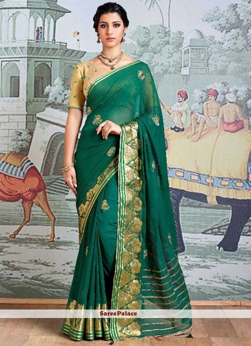 Resham Work Viscose Classic Saree