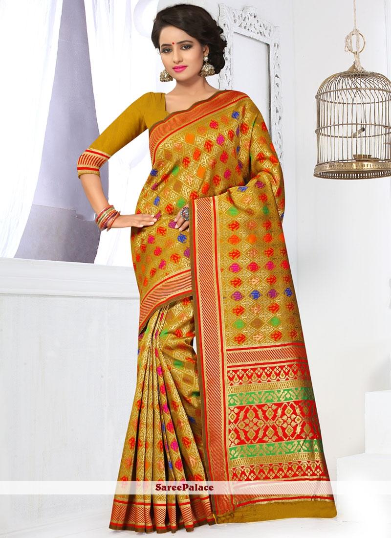 Resplendent Banarasi Silk Weaving Work Traditional  Saree
