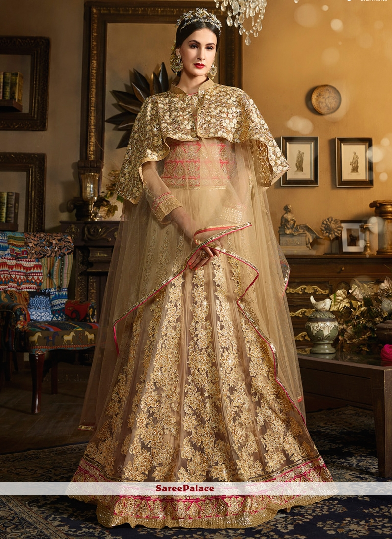 Resplendent Banglori Silk Beige Designer Floor Length Salwar Suit