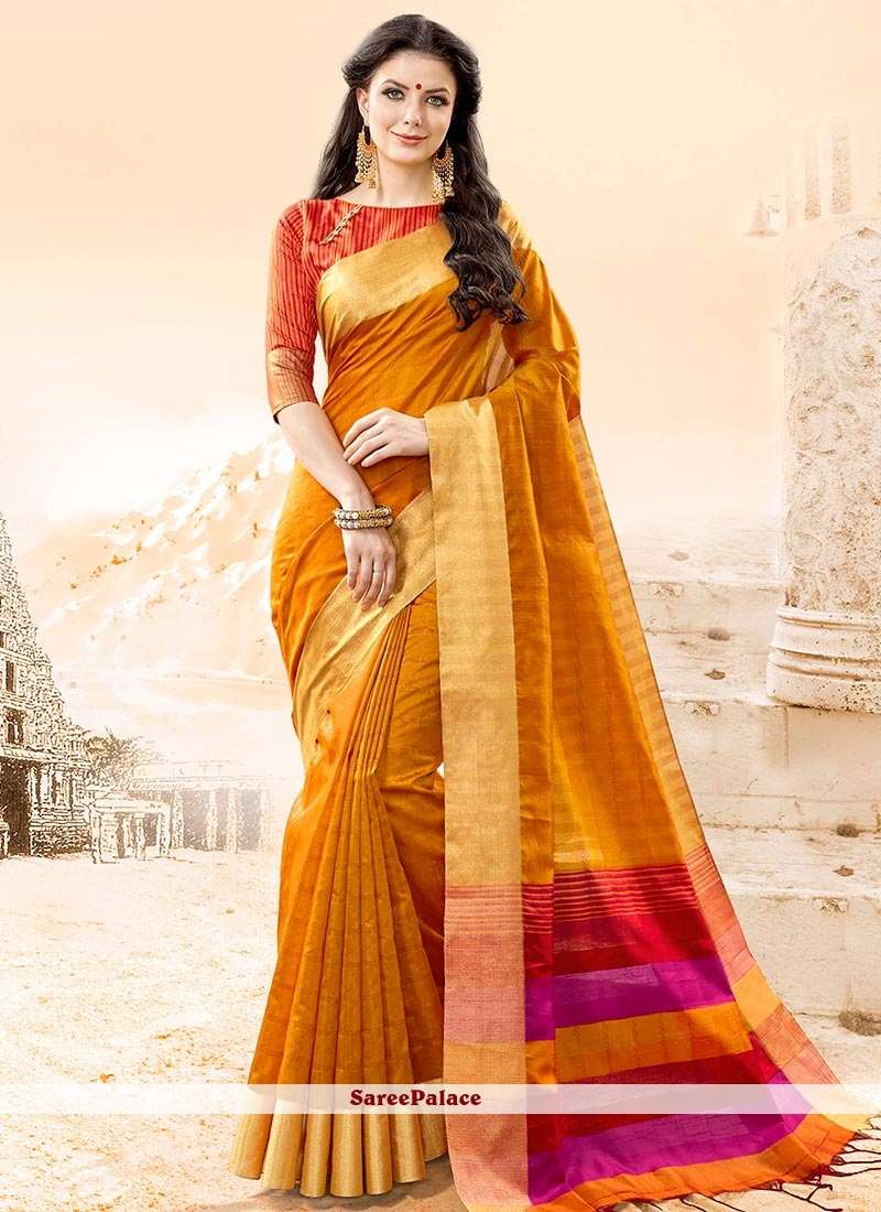 Riveting Cotton Silk woven Work Traditional  Saree