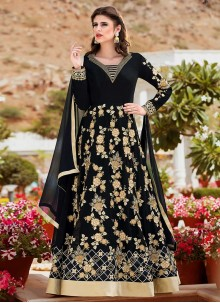 Riveting Faux Georgette Floor Length Anarkali Suit