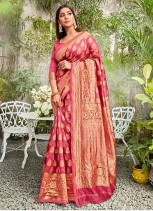 Rose Pink Casual Classic Saree