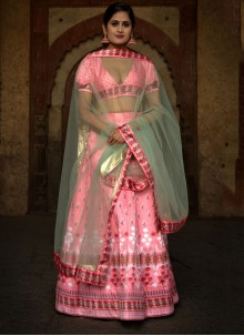 Rose Pink Ceremonial Lehenga Choli