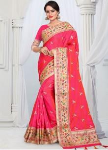 Rose Pink Classic Saree