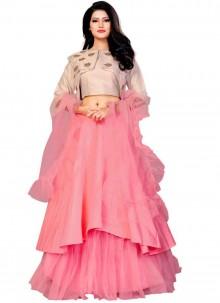 Rose Pink Color Designer Lehenga Choli