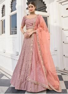 Rose Pink Engagement Lehenga Choli