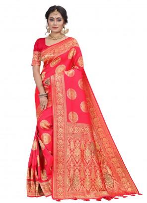 Rose Pink Fancy Silk Designer Traditional Saree