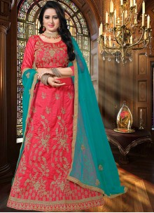 Rose Pink Resham Lehenga Choli