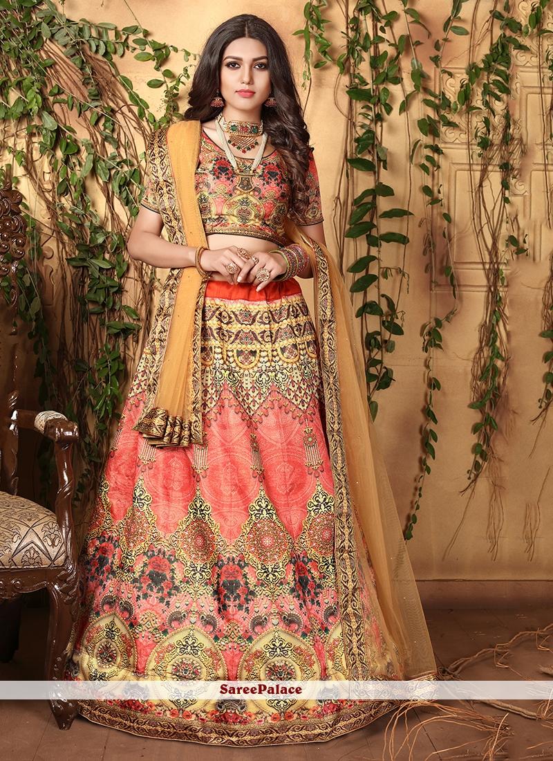 Rose Pink Wedding Trendy Lehenga Choli