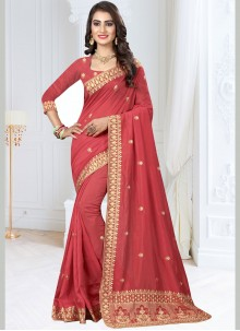 Rose Pink Zari Festival Designer Traditional Saree