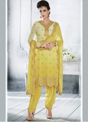 Royal Yellow Designer Suit