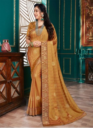 Rupali Ganguly Brown Festival Traditional Designer Saree