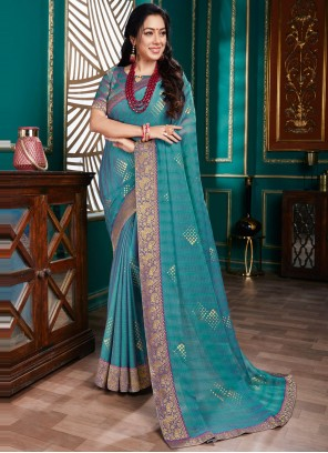 Rupali Ganguly Organza Traditional Designer Saree