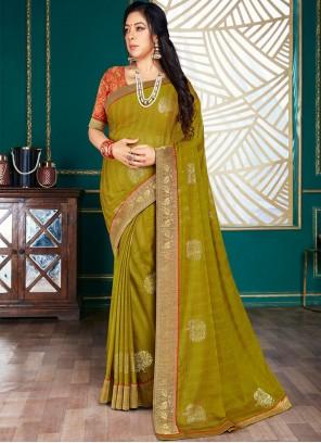 Rupali Ganguly Phenomenal Green Traditional Saree