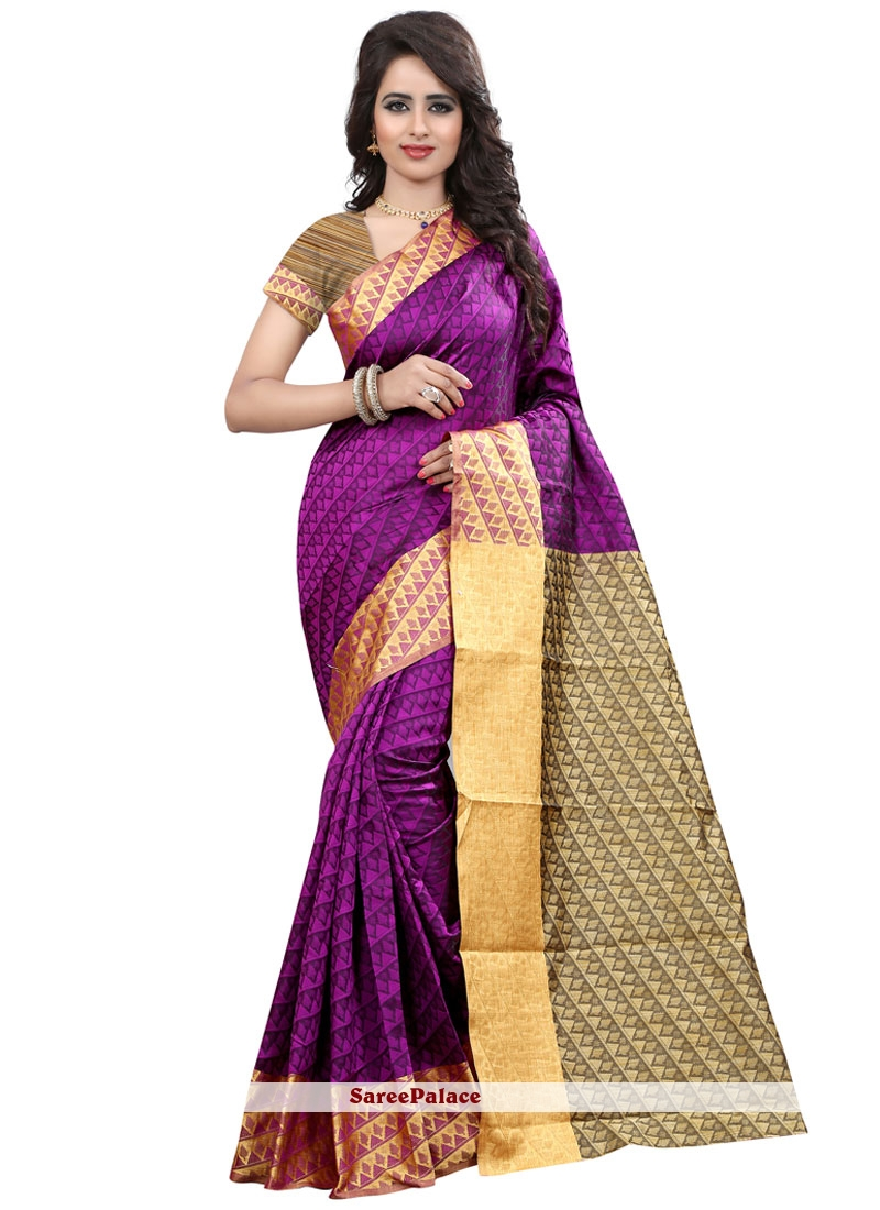 Ruritanian Cotton Silk Magenta Weaving Work Designer Traditional Saree