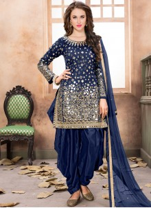 Ruritanian Lace Work Designer Patiala Suit