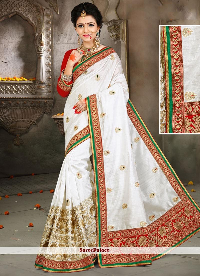 Ruritanian Patch Border Work Traditional Designer Saree
