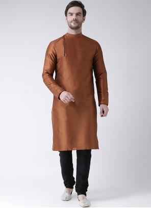 Rust Color Kurta Pyjama