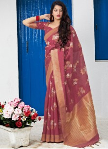 Rust Reception Traditional Saree