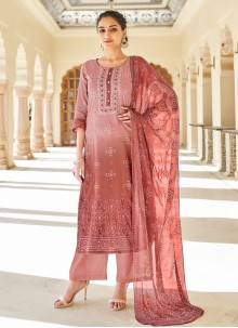 Salmon Festival Pink Designer Palazzo Suit