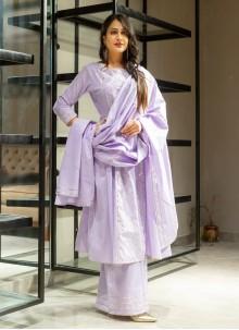 Purple Salwar Kameez For Festival