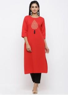 Red Salwar Kameez For Party