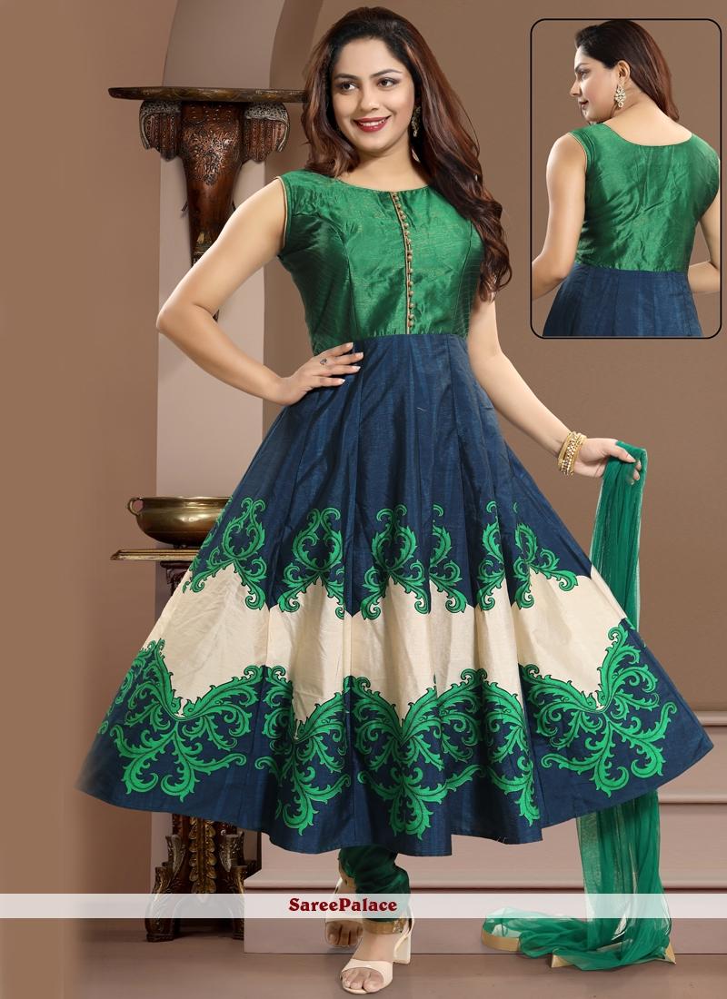 Green Salwar Kameez For Reception