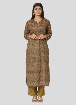 Salwar Kameez Multi Art Silk in Multi Colour