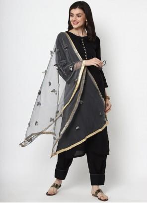 Salwar Suit Plain Cotton in Black