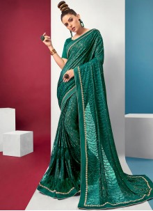 Saree Fancy Lycra in Green