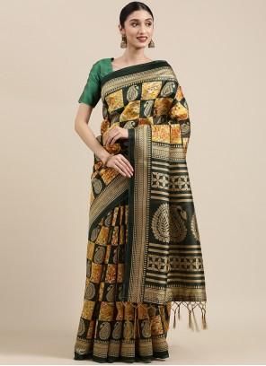 Saree Weaving Art Silk in Multi Colour