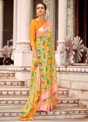 Multi Colour Satin Casual Traditional Saree For Casual