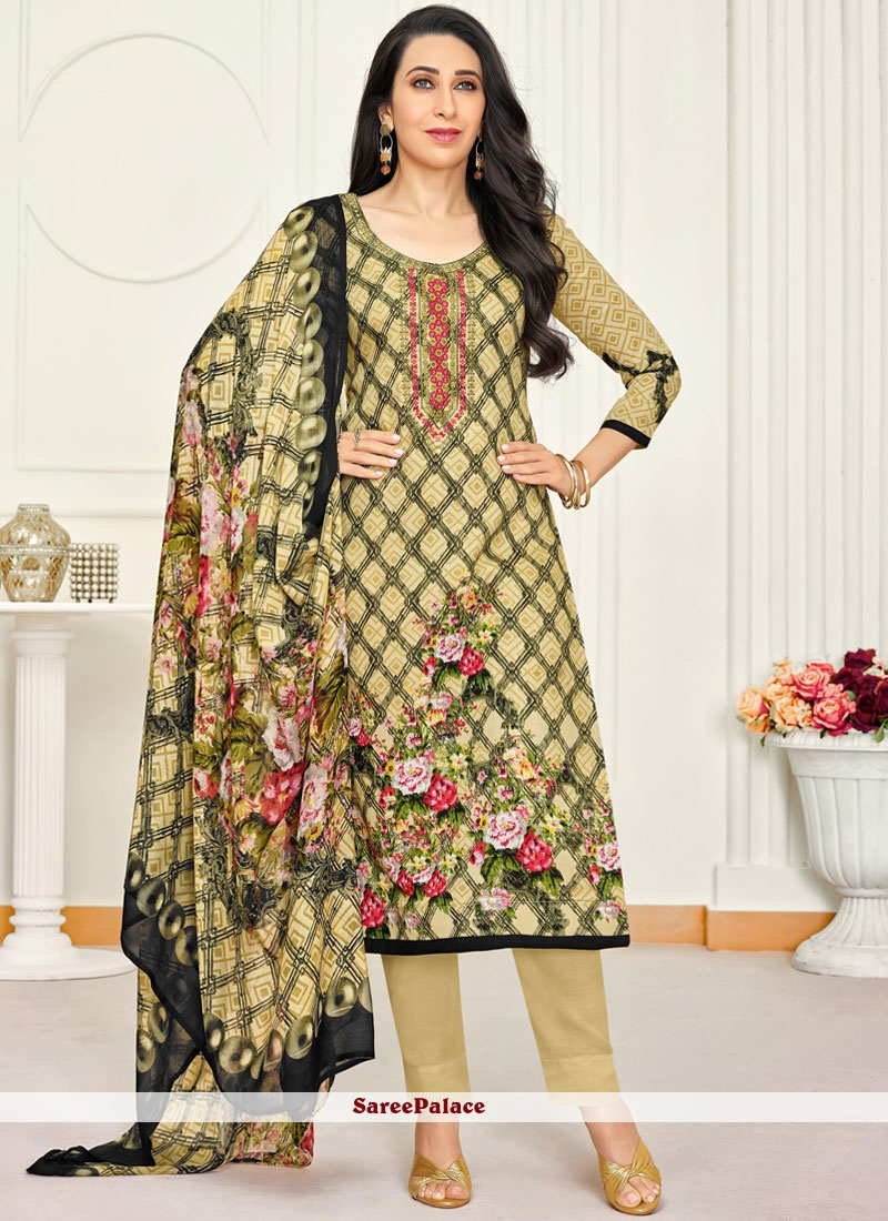 0eb70ce0b7 Buy Satin Embroidered Yellow Salwar Kameez Online