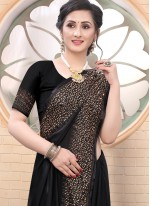 Satin Fancy Black Classic Saree