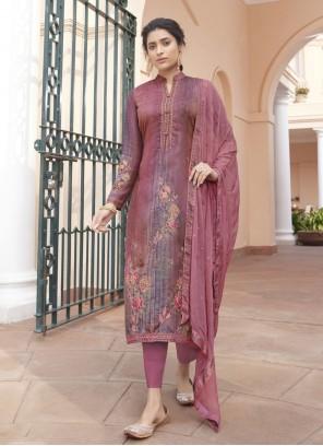 Pink Satin Festival Designer Pakistani Suit