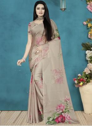 Satin Silk Party Wear Saree
