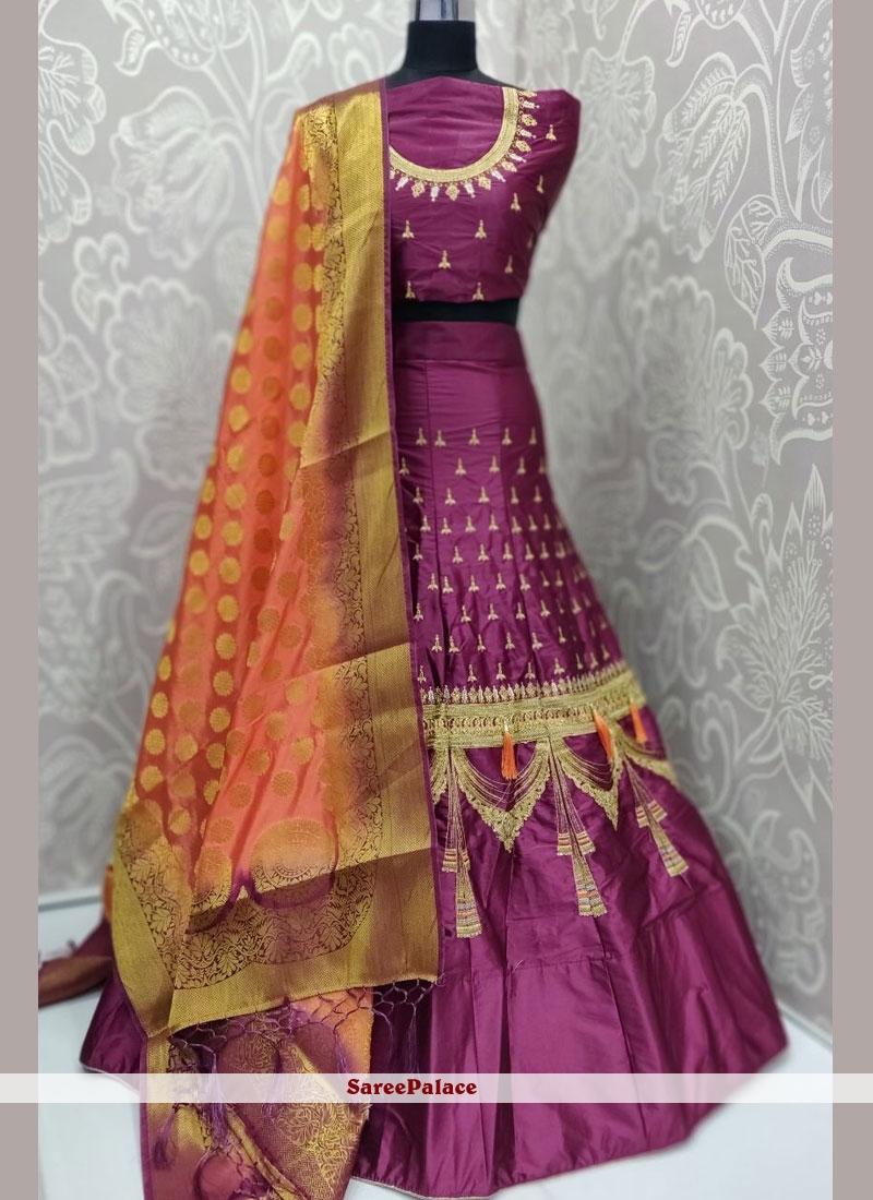 Satin Silk Rani Trendy Lehenga Choli
