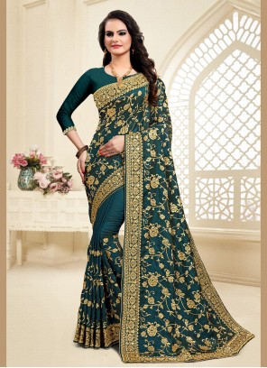 Satin Silk Reception Designer Saree