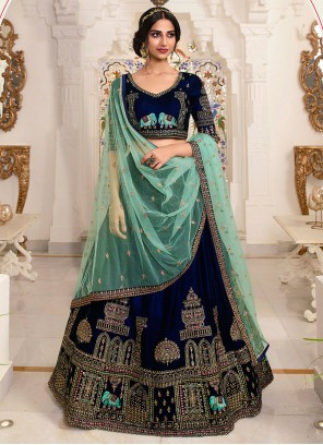 Satin Wedding Lehenga Choli