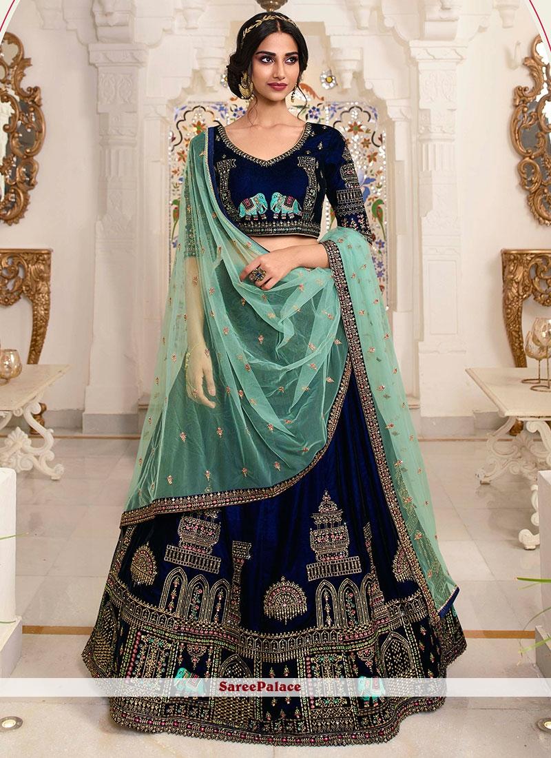 Satin Wedding Lehenga Choli