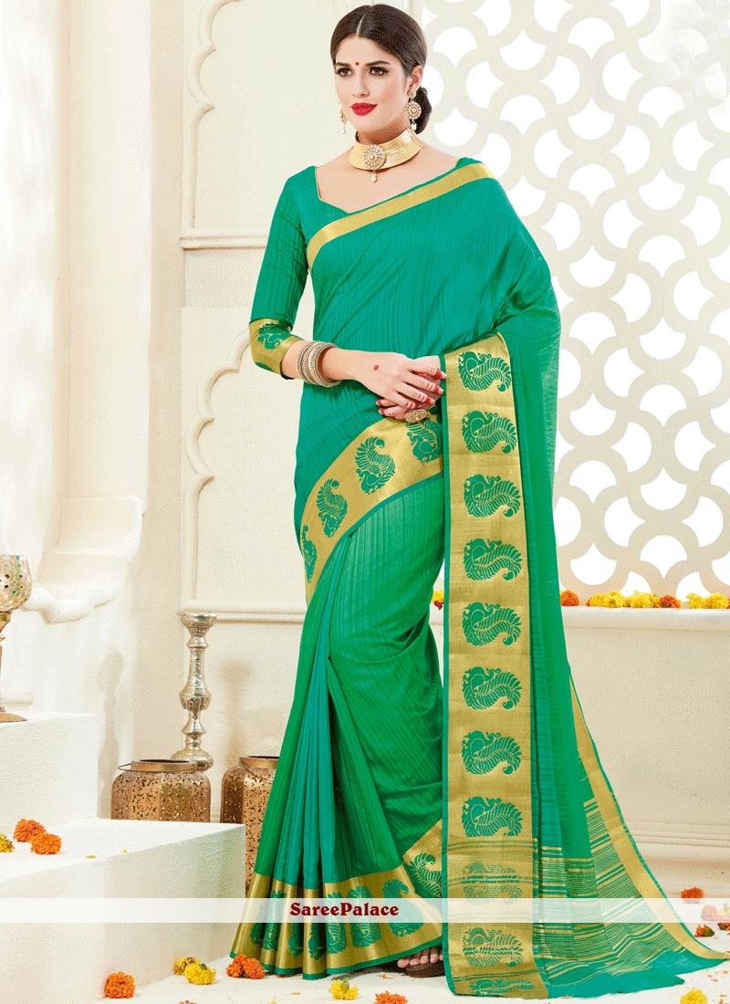 Savory Art Silk Green woven Work Designer Traditional Saree