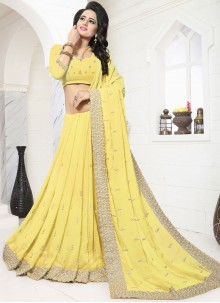 Scintillating Classic Designer Saree For Festival