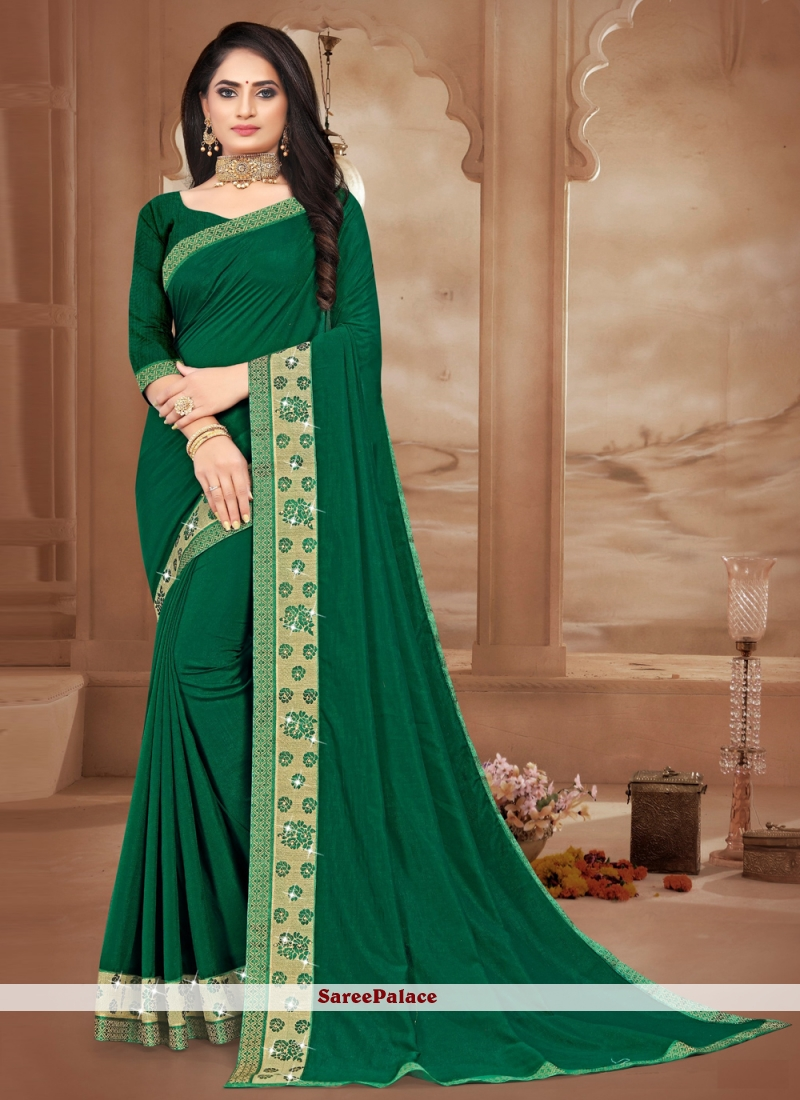 Sea Green Bollywood Saree